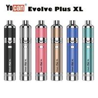 Auténtico Yocan Evolve Plus XL Kit E Cigarrillo Vaporizador de cera 1400mAh batería Vape Vape DAB Pen Bobina Quad Bobina 5 colores en stock
