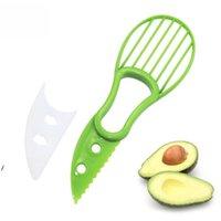 3 in 1 Avocado Slicer Shea Corer Burro Fruit Peeler Cutter Separatore di polpa Separatore di plastica Coltello da cucina Utensili verdure Cucina Gadget DHL DWF8309