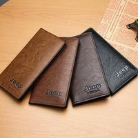 Wallets 2021 PU Leather Long Men's Wallet Multi-card Hand Bag Retro Business Texture Card Coin Purse High Quality