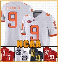 NCAA Clemson Tigers 16 Trevor Lawrence 9 Travis Etienne Jr. Jersey Americano Jersey Tua TuaVailoa Tom Brady Saquon Barkley Orange S F