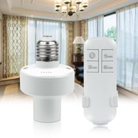 Smart Home Control Lamp Wireless Remote E27 Bulb Stand With Timer Switch Socket LED Lights For Room Bedroom Kitchen Holder