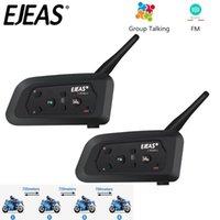ejeas v4 프로 4 사람들 모토 블루투스 헬멧 헤드셋 인터폰 850mAh Cascos Inalambricos 스피커 방수 FM 라디오