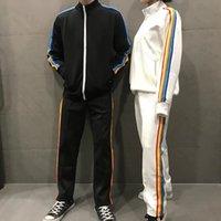 2021 New Mens Womens Palms de Anjos Branco Tracksuits Sueter OW Pa Suits Homens Trilha Suor Suor Homem Ganso Canada Casacos Hoodies Calças Sportswear