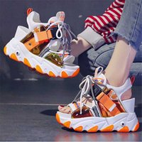 Femmes Boundy Plateforme Sandales Fashion Summer Couleurs Mixte Couleurs 9cm Coin Chaussures Femelle Plage Sweet Campus Style Open Toe High Talons