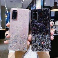 Cas de téléphone glitter clair pour Huawei Profitez de 20 Plus Z 5G Nova 8 PRO 8SE P Coque Rainbow Gradient Smart Y7A
