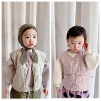 Waistcoat Spring Autumn Kids Cotton Vest 2 3 4 5 6 Y Baby Girls Boys Korean Solid Warm Waistcoats Single-breasted Vests Coats For Children