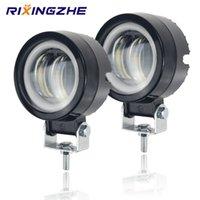 7D Objektiv 3 Zoll Arbeitslicht Runde LED Arbeitsbar Angel Eyes L Spot Light Motorrad Offroad Auto Boot LED