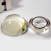 Fashion 5pcs 80mm Clear Blank Crystal Hemisphere K9 Glass Half Ball Dome for Paperweight Fridge Magnet Glass Ball Home Decor Q0525
