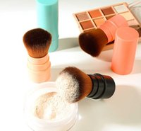 Makeup Brushes Convenient Retractable Brush One Large Powder Blush With Lid Full Set Of Beauty Tools