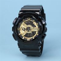 Горячие Продажи G G110 Мужчины Спортивные Часы Двойной Дисплей Аналоговый Цифровой Шок Светодиодные Электронные Кварцевые наручные часы Резиновые Военные Часы