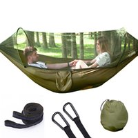 Fully Automatic Quick Opening Bed Net Hammock Outdoor Single Person Double Nylon Parachute Cloth Camping Anti-mosquito Hammock w-00903