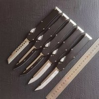 "HOT DEALS self-defense Automatic Knife (4.6"" Satin) single action Tactical Knives Survival Pocket auto knife 6061-T6 handle EDC Tools"