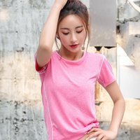 Yoga Outfit Sports T-shirt Woman Short Sleeve Fitness Tops Loose Shirts Quick Dry Running B