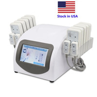 Stock em US Portable Home Use 635-650nm 12 Almofadas grandes 4 Smallpads Slimming Lipo Laser Beauty Equipment Machine Perda de peso
