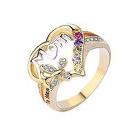 2021 Muttertag Ring Geschenk für Mom Buchstaben Ring Trendy Valentinstag Frauen Mädchen Geburtstag Festival Geschenk Ringe Geschenke Schmuck Neue G30102