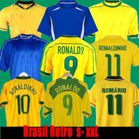 1998 Brasil Soccer Jerseys 2002 Retro Camicie Carlos Romario Ronaldinho 2004 Camisa de Futebol 1994 Brazils 2006 1982 Rivaldo Adriano