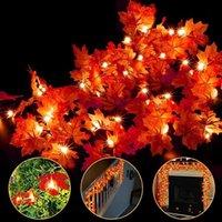 Marple Queda Luzes Decorações Decorativas Flores Grinaldas 30ft / 80 LED Folha De Maple Light Bateria Operado Garland Decoração Home Ação de Graças Deco Deco Halloween