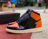 Vendita 1 High OG Pallacanestro Scarpe 1s Backboard Shattered 3.0 Uomo Donna Black Bright Orange Sneakers Scarpe da ginnastica