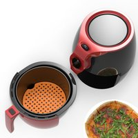 Air Fryer Liner With Silicone Pad Bakeware Kitchen Accessories Food Steamer Liners Can Be Reused To Prevent Foods Sticking Tool 7.5/8/8.5/9 Inch
