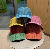 2021 Fashion MultiColor Ball Caps Fashion Street Gorra de béisbol para hombre Mujer Ajustable Sombrero 4 Temporada Sombreros Gorros Gorros Calidad superior