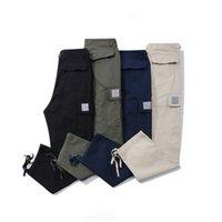 22ss Pantalones de alta calidad para los diseñadores de invierno Leggings con cordón Plaid general Pantalones casuales para hombre Monos de corsé Multi pantalón deportivo Color sólido Hombres más que un bolsillo
