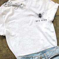 ÉLIIIYA T-shirt Femme Bee Sheet Thirte Overdim Overdim Overdize Coton Graphiques T-shirts T-shirts T-shirts Femme T-shirt Femmes 210315
