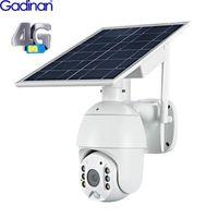 4G SIM-KAART IP 카메라 야외 Twee-Weg 오디오 PTZ CCTV 카메라 8W Zonnepaneel Beveiliging PIR Detecteren Cloud