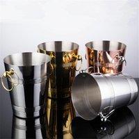 Eis Eimer und Kühler Edelstahl Wine Eimer Kühler Goldene Flasche Kühler Champagner Bierfass Silber Gold Whisky Rack