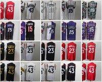 2021 Nacc Basketbol Formaları Fred 23 Vanvleet Jersey Carter 15 Pascal 43 Siakam Siyah Beyaz Kırmızı Mor Dikişli