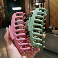 Sweet and versatile simple large 11cm hair clips matte color bath hair catch Women girl for Hair Accessories J107