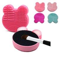 Escovas de limpeza de limpeza de pincel de limpeza de maquiagem de plástico escovas de lavagem de limpeza Esponja e tapete cosméticos escovas limpas de limpeza de lavagem hh21