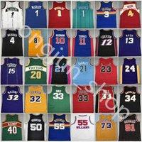 Mitchellness rétro Jersey de basketball cousu Iverson Pippen Rodman McGrady Anthony Garnett Malone Mutombo Bibby Stockton Kemp Payton Barkley Nash Allen Carter