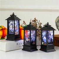 Cadılar bayramı Vintage Kabak Kalesi Işık Lambası Parti Asılı Dekor LED Fener Parti Malzemeleri Cadılar Bayramı Vintage Lanter B