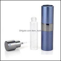JARS Housekee Organización Inicio GardenRotatable 15ml Alta calidad Cáscara de metal Tanque de cristal Aparato vacío Piscina Botella de atomizador recargable