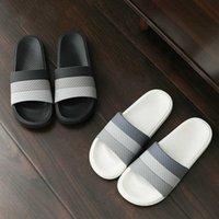 Mujeres Verano Inicio Zapatillas de interior Mezclar color No resbalón grueso suave Sole Sole Baño Ducha 2020 Smiple Diapositivas Hombres Ladies Zapatos Casa D87R #