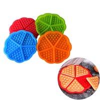 Molde de waffle de silicona Moldes para hornear forma de corazón Molde de muffin antiadherente DIY Cake Bakeware Accesorios de cocina JKKD2103