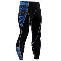 Pantalon pour hommes Mens 3D Imprimer Long Terminé Fitness Stretch Stretch Skinny Body Body Leggings Sport Casual Élasticité Runing Pant