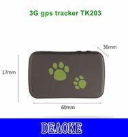 Auto GPS Accessori 3G TK203 Mini PET Tracker Impermeabile antipolvere antipolvere Dispositivo di tracciamento in tempo reale AGS Locator Movimento Allarme risparmio energetico