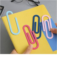 2 pcs / pacote Grandes clipes de papel de metal fofo 4 polegadas Multicolored Bookmark Page Markers Paperclips para Office fornecedor escola jlllzu