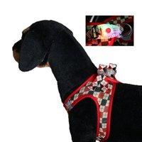 Collares de perro Correa Banda mamaria LED Malla luminosa ARRNOS ABRESA A LA NOCHE PARA PERRIR PERROS Mascotas Accesorios