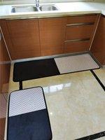Черно-белый ковер Grid Новый Nordic Современный геометрический ковер износостойкие Нескользящие коврики бытовые водонепроницаемые дизайнерские кухонные коврики