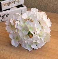 시뮬레이션 된 수 국 머리 결혼식 파티를위한 놀라운 화려한 장식 꽃 럭셔리 인공 수국 실크 DIY 꽃 장식 164 S2