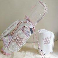 Bolsas de golf Fashion Standard Ball Bolsa Caramelo Carro Cosas Soporte Trípode Dos gorras Rosa