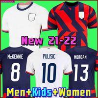 USA 2020 Pulisic McKennie Soccer Jersey ertz Altidore 2021 Presse Wood Morgan Lloyd America Football Jerseys Etats-Unis Chemise Camisetas Usmnt lletget Men + Enfants