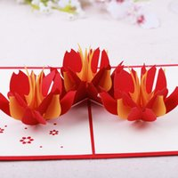 Greeting Cards Product's Creative Handmade Hollow Blessing Card Orchid Gratitude Birthday Love Valentine's Day Gift 3D
