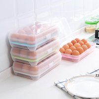 10 Grids Plastic Egg Boxes Refrigerator Food Fresh Storage Box Shatter Eggs Resistant Organizer Container Kitchen Tools HWE9426