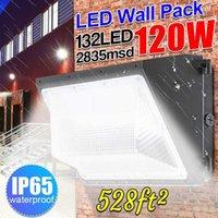 120W في الهواء الطلق الصمام الحائط الصناعي حزمة ضوء السوبر مشرق الأبيض الجدار حزمة 5500K أدى ضوء الأمن للمرض التجاري