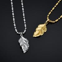 작은 잎 목걸이 여성 / 여자 골드 실버 컬러 Femme 펜던트 비드 체인 간단한 보석 선물