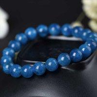 Beaded, Strands Apatite Beaded Bracelet Handmade Natural Stone Jewelry Strand Charm Bracelets For Women Men Healing Energy Crystal Bangles G