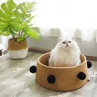 القط عش الكلب القط السرير بيت الكلب بيت النوم عش للكلب صغير صالح للقطط جرو النوم حصيرة وسادة السرير لوازم السرير FWE4887